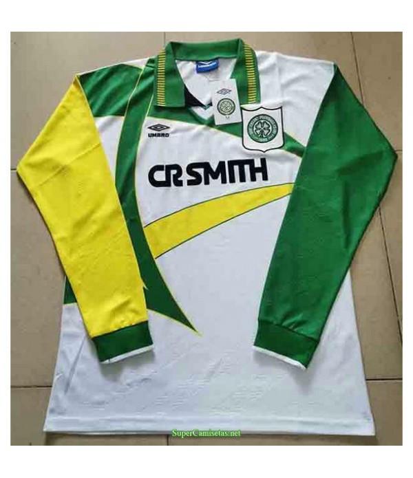 Tailandia Segunda Equipacion Camiseta Celtics Manga Larga Hombre 1994 95
