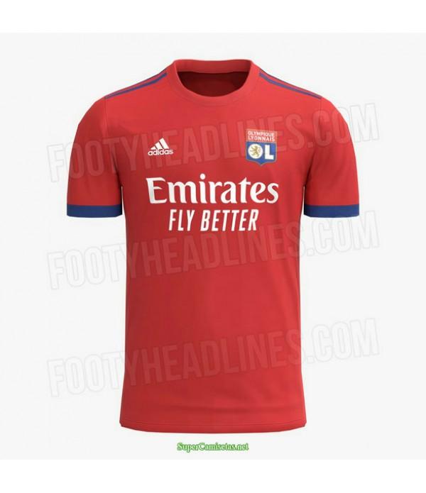 Tailandia Segunda Equipacion Camiseta Lyon Rojo 2021