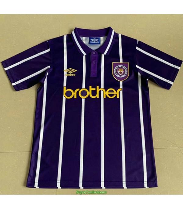 Tailandia Segunda Equipacion Camiseta Manchester City Hombre 1993