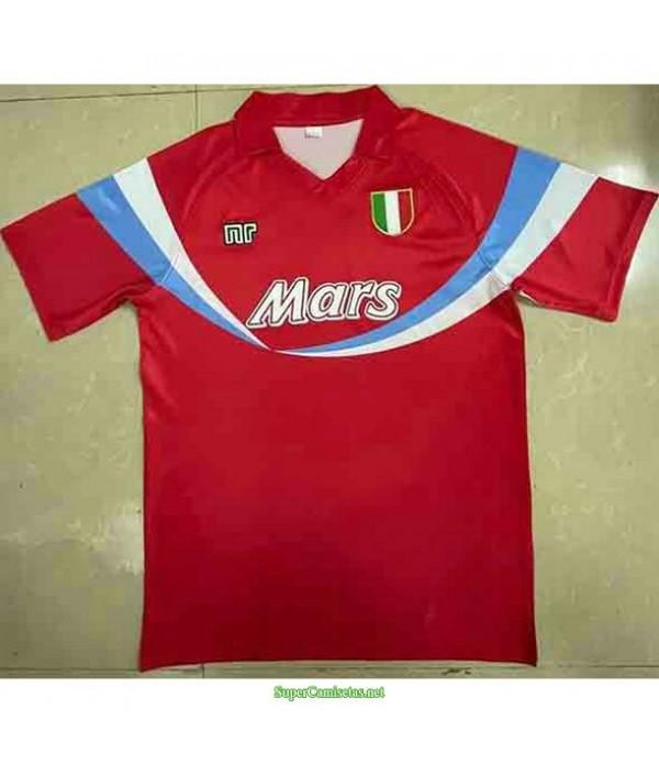 Tailandia Segunda Equipacion Camiseta Nápoles Hombre 1990 91