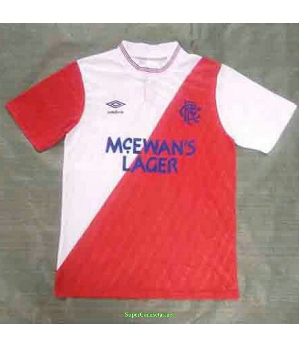 Tailandia Segunda Equipacion Camiseta Rangers Hombre 1987 88