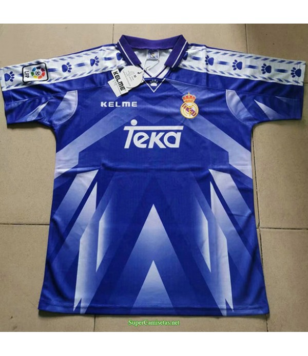 Tailandia Segunda Equipacion Camiseta Real Madrid Hombre 1996 97