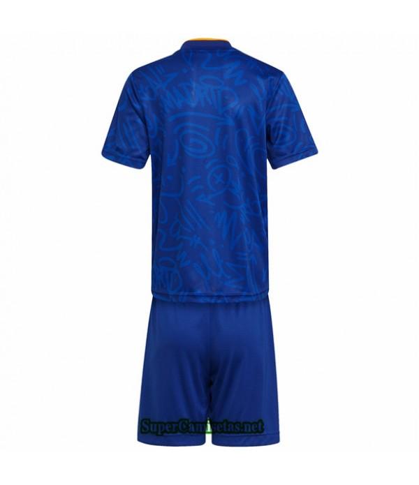 Tailandia Segunda Equipacion Camiseta Real Madrid Ninos 2021