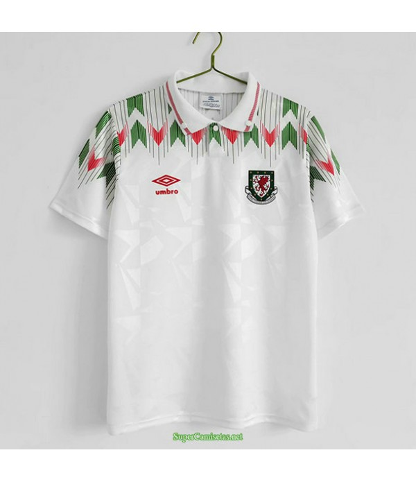 Tailandia Segunda Equipacion Camiseta Wales Hombre 1990 92