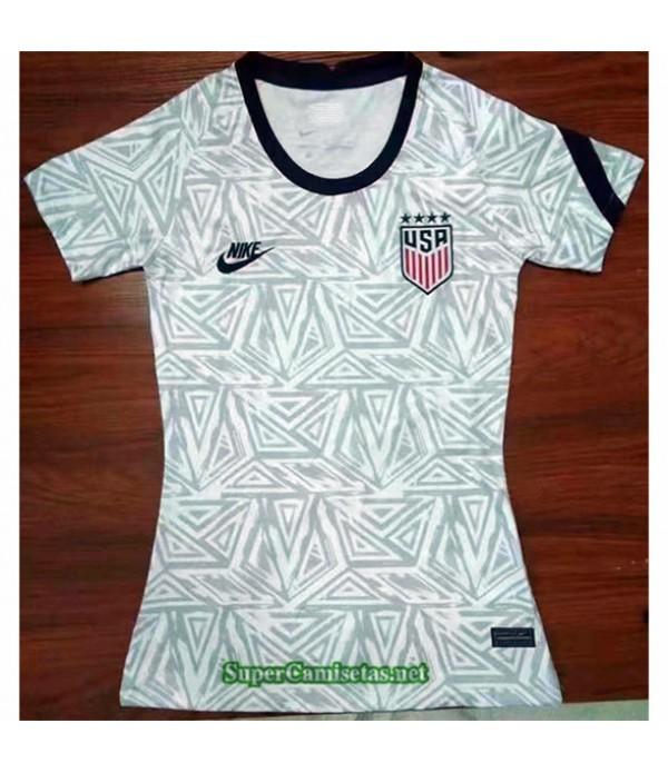 Tailandia Equipacion Camiseta États Unis Femme Blanca 2021 2022