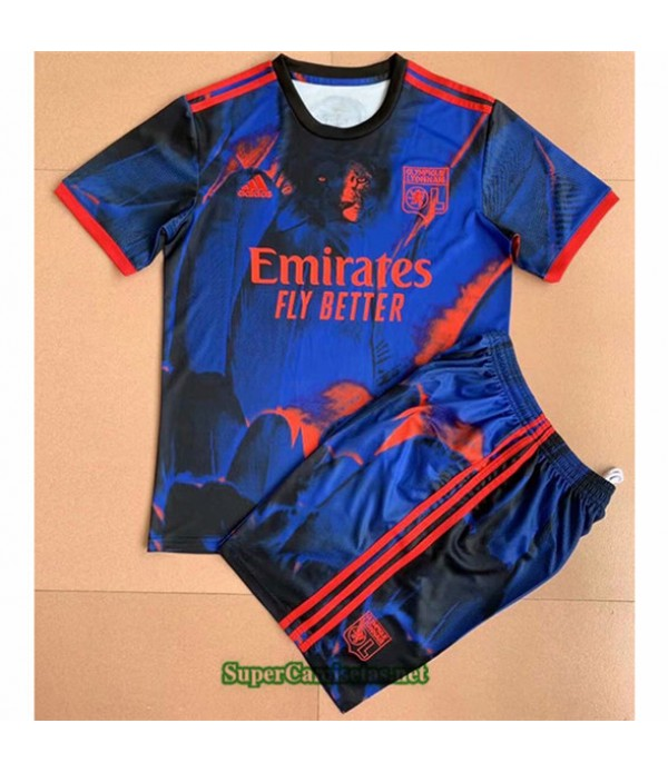 Tailandia Equipacion Camiseta Lyon 4th Enfant 2021 2022