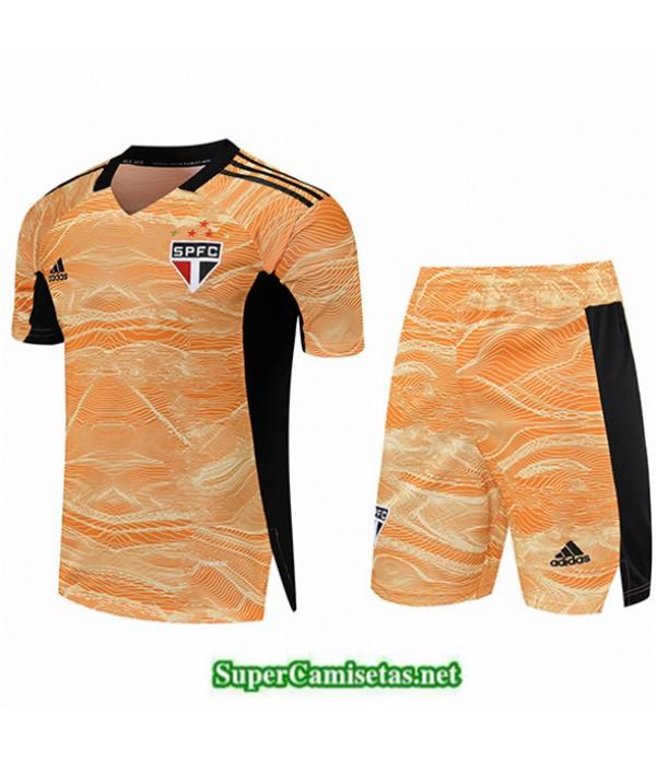 Tailandia Portero Equipacion Kit De Camiseta Sao Paulo Amarillo 2021 2022