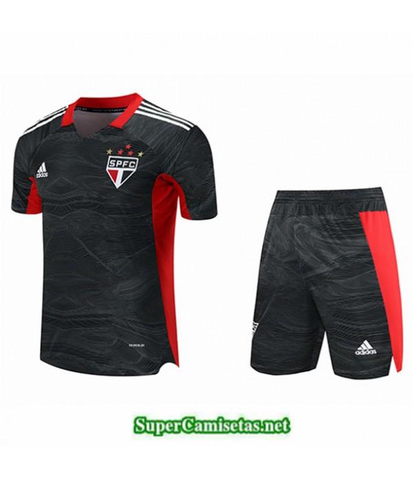 Tailandia Portero Equipacion Kit De Camiseta Sao Paulo Negro 2021 2022