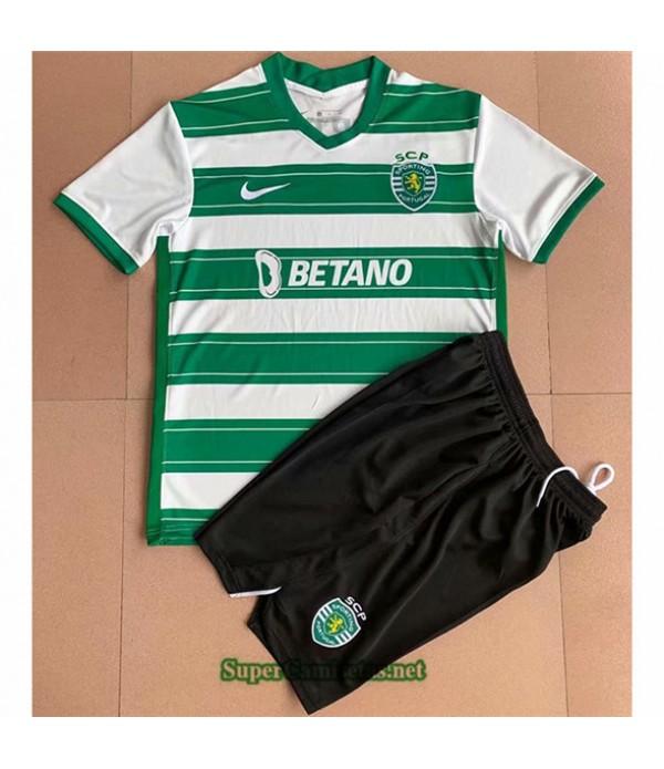 Tailandia Primera Equipacion Camiseta Sporting Lisbon Enfant 2021 2022