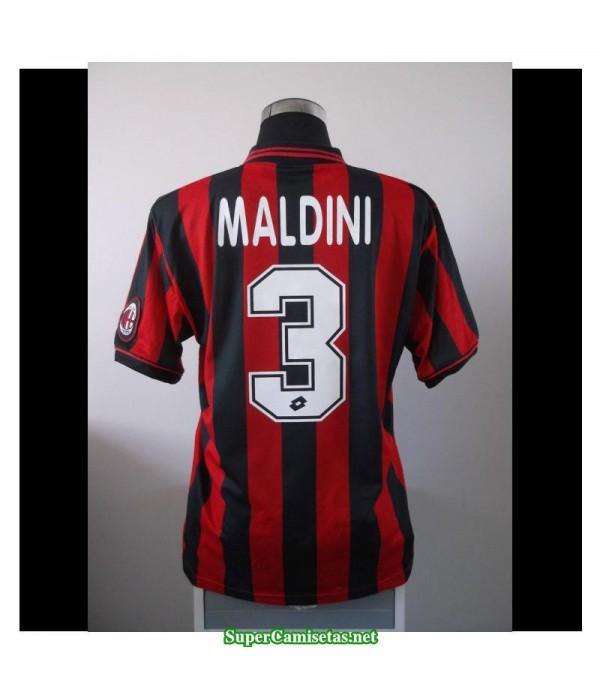 Camisetas Clasicas AC milan Hombre 3 Paolo Maldini 1996-97