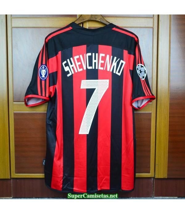Camisetas Clasicas AC milan Hombre 7 shevchenko 2003-04