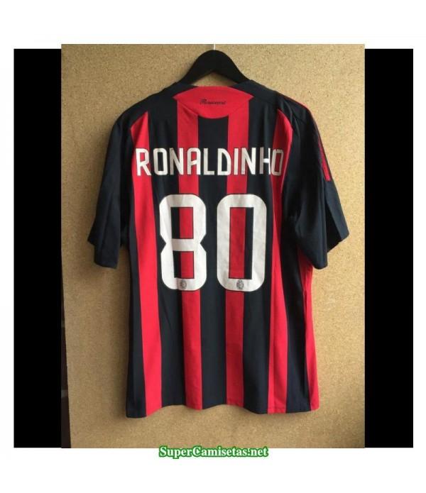 Camisetas Clasicas AC milan Hombre 80 Ronaldinho 2008-09