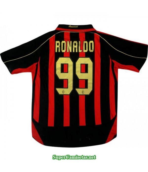 Camisetas Clasicas AC Milan Hombre 99 Ronaldo 2006-07