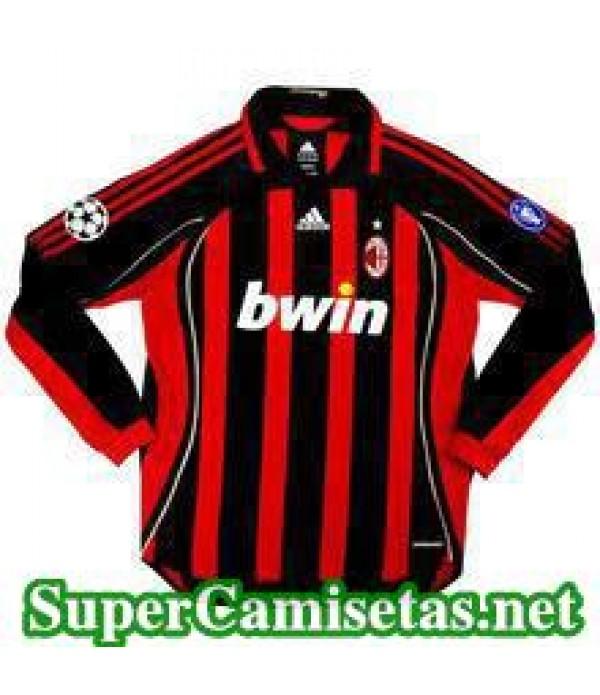 Camisetas Clasicas AC Milan Hombre Manga Larga 2006-07