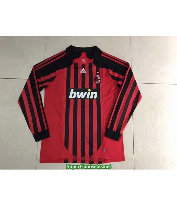 Camisetas Clasicas AC Milan Hombre Manga Larga 2007-08
