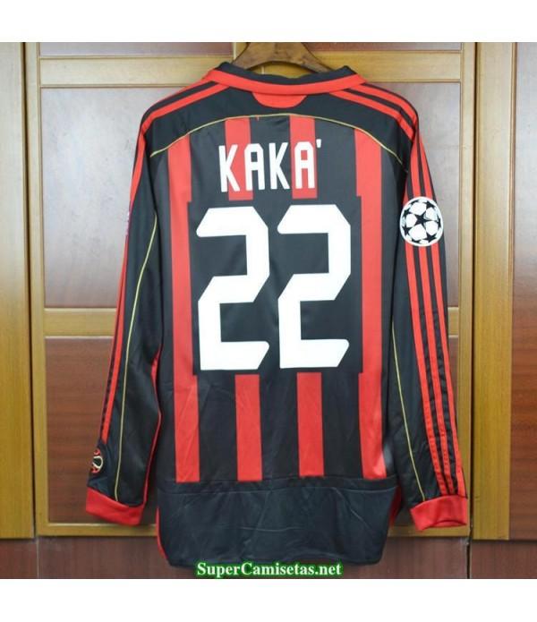 Camisetas Clasicas AC Milan Hombre Manga Larga 22 KAKA 2006-07