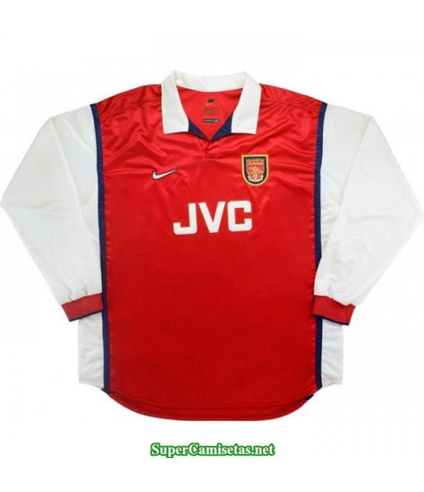 Camisetas Clasicas Arsenal Hombre Manga Larga 1998-99