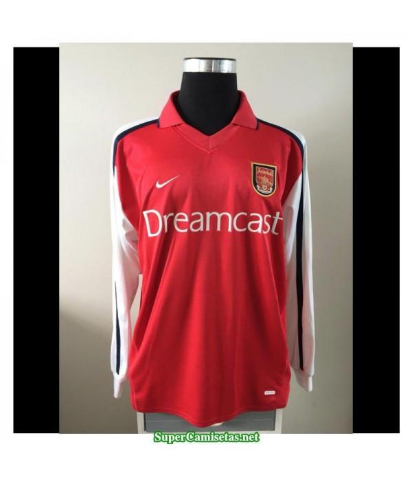 Camisetas Clasicas Arsenal Hombre Manga Larga 2000-2002