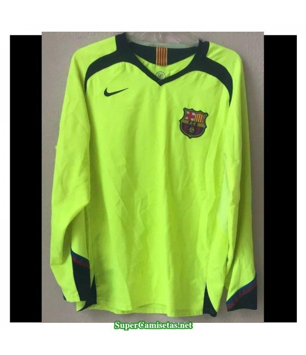 Camisetas Clasicas Barcelona green away Manga Larga 2005-06
