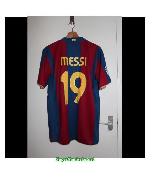 Camisetas Clasicas Barcelona Hombre 19 Messi 2007-2008