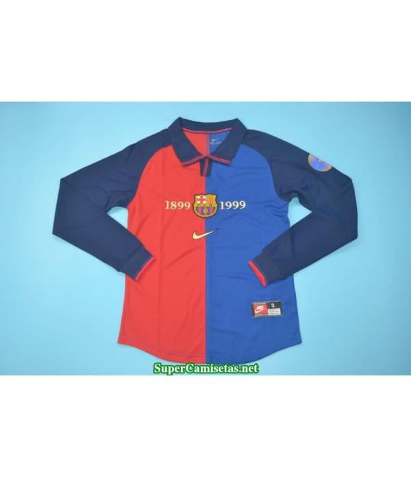 Camisetas Clasicas Barcelona Hombre Manga Larga 1998-99