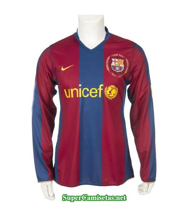 Camisetas Clasicas Barcelona Hombre Manga Larga 2007-2008