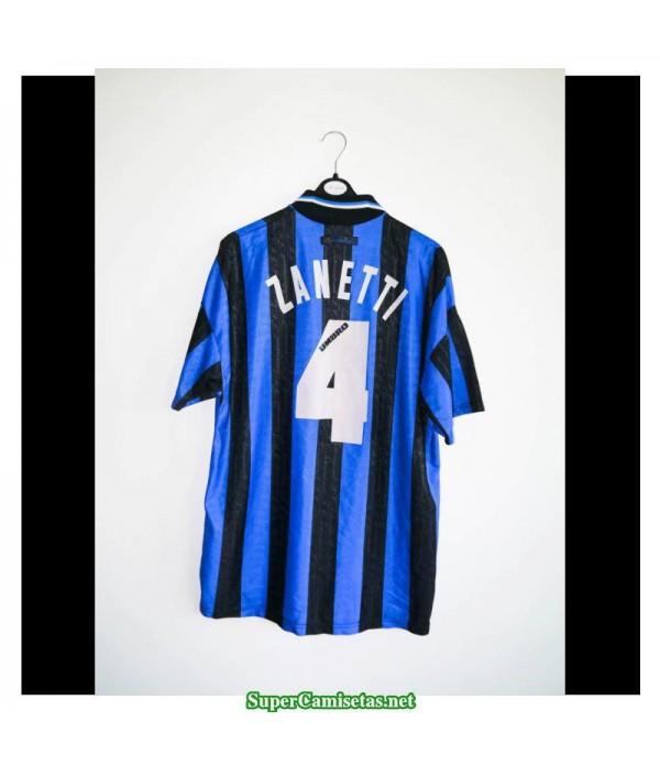 Camisetas Clasicas Inter Milan Hombre 4 Zanetti 1997-98