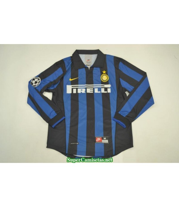 Camisetas Clasicas Inter Milan Hombre Manga Larga 1998-99