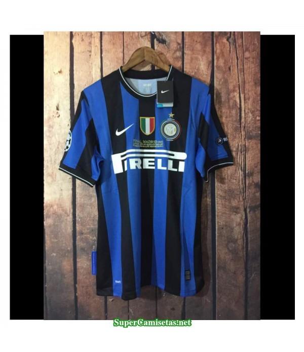 Camisetas Clasicas UCL final Inter Milan Hombre 2010