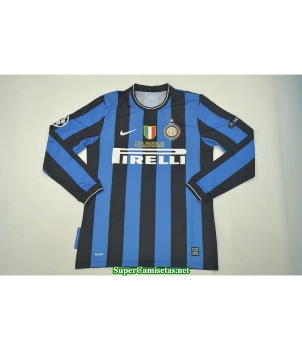 Camisetas Clasicas UCL final Inter Milan Hombre Manga Larga 2010