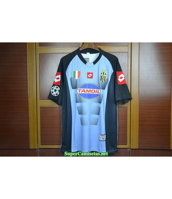 Camisetas Clasicas Champions League Juventus goalkeeper Bleu 2002-03
