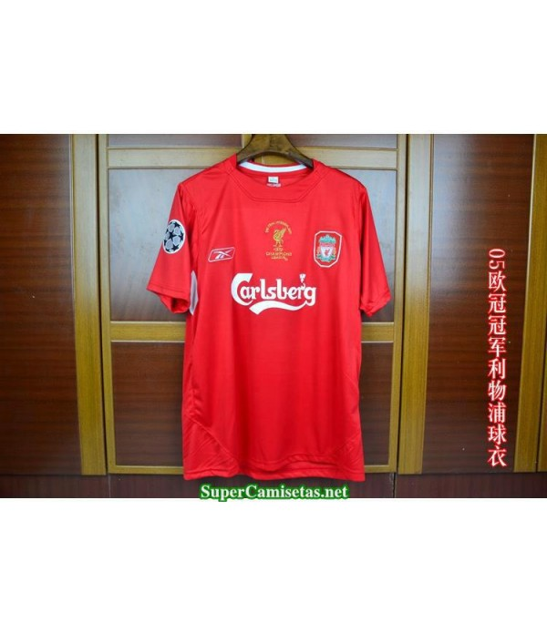 Camisetas Retro UCL final Liverpool Hombre 2005
