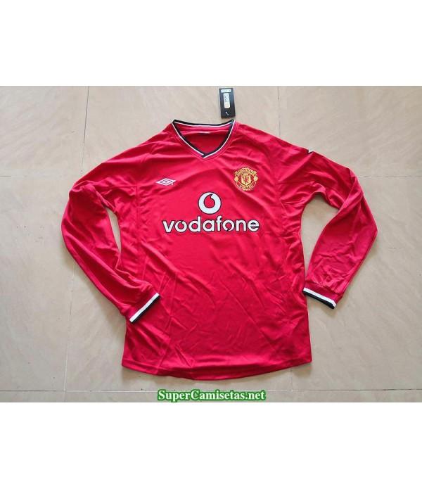 Camisetas Clasicas Manchester united Hombre Manga Larga 2000-01