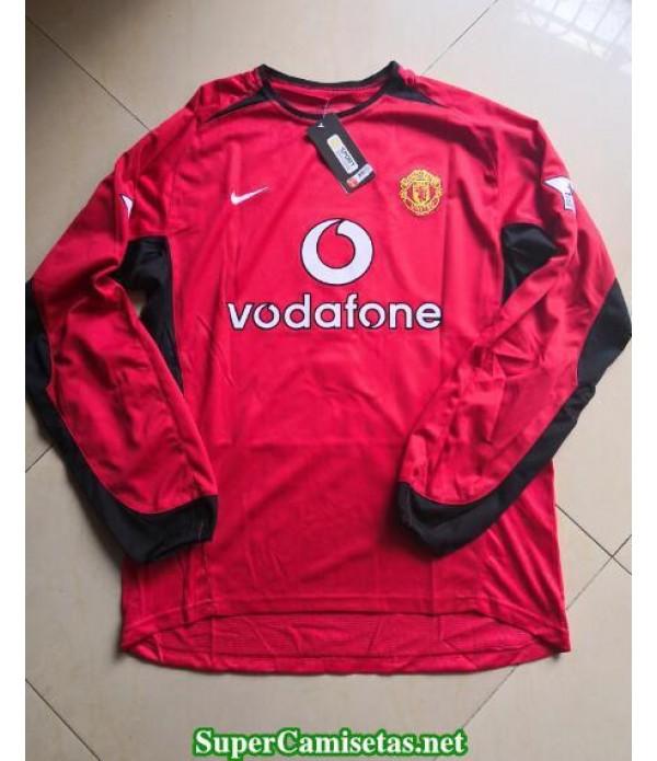 Camisetas Clasicas Manchester United Hombre Manga Larga 2002-03