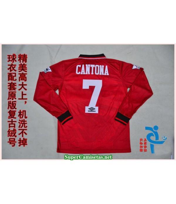 Camisetas Clasicas Manchester United Hombre red Manga Larga 7 Cantona 1994