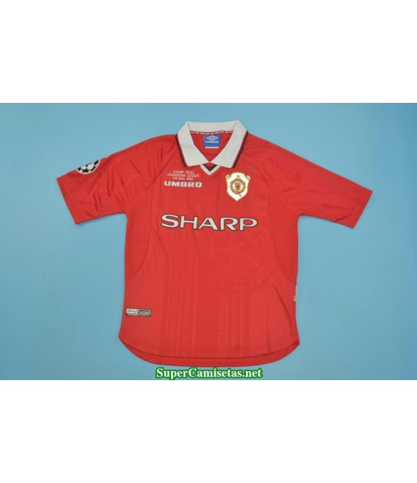 Camisetas Clasicas Manchester United Hombre UCL final 1999