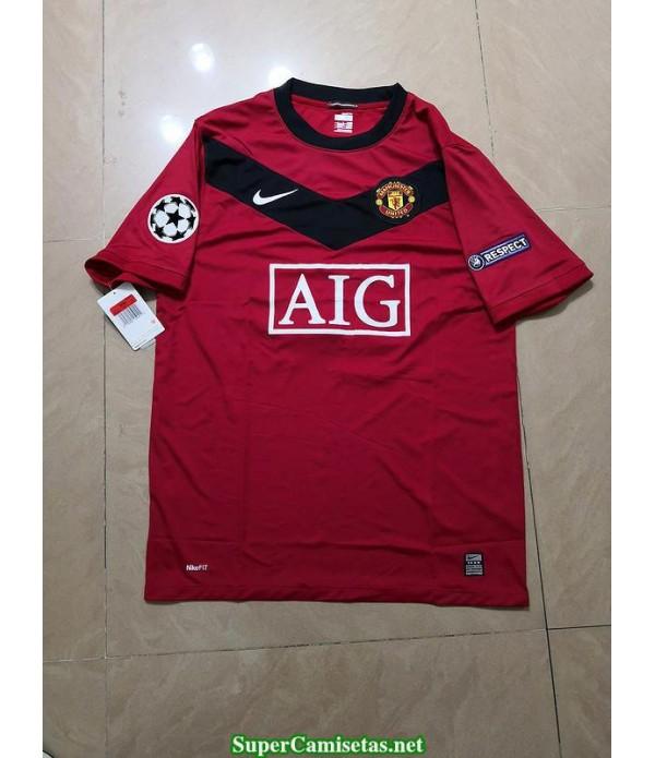Camisetas Clasicas Manchester United Hombre UCL version 2009