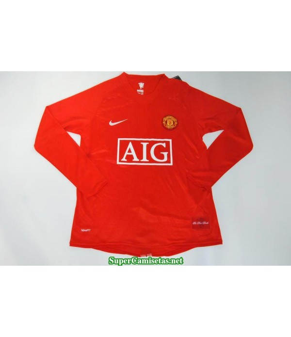 Camisetas Clasicas Manchester United Manga Larga sleeve UCL final 2007-08