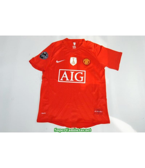 Camisetas Clasicas Manchester United sleeve UCL final 2007-08