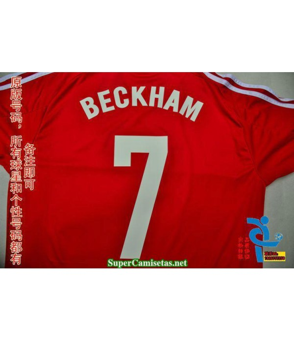 Camisetas Clasicas Beckham charity event red 7 2015