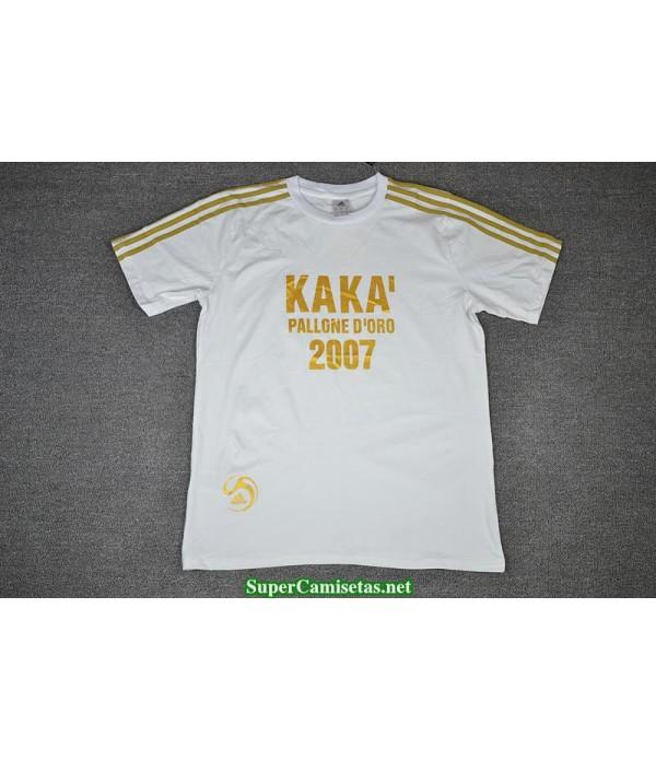 Camisetas Clasicas KAKA Golden ball Commemorative Edition white 2007