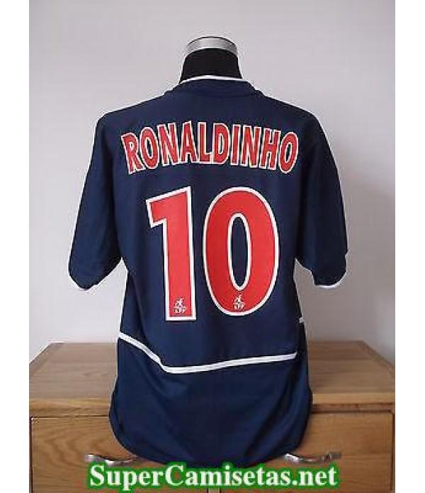 Camisetas Clasicas PSG Hombre blue 10 Ronaldinho 2002-03