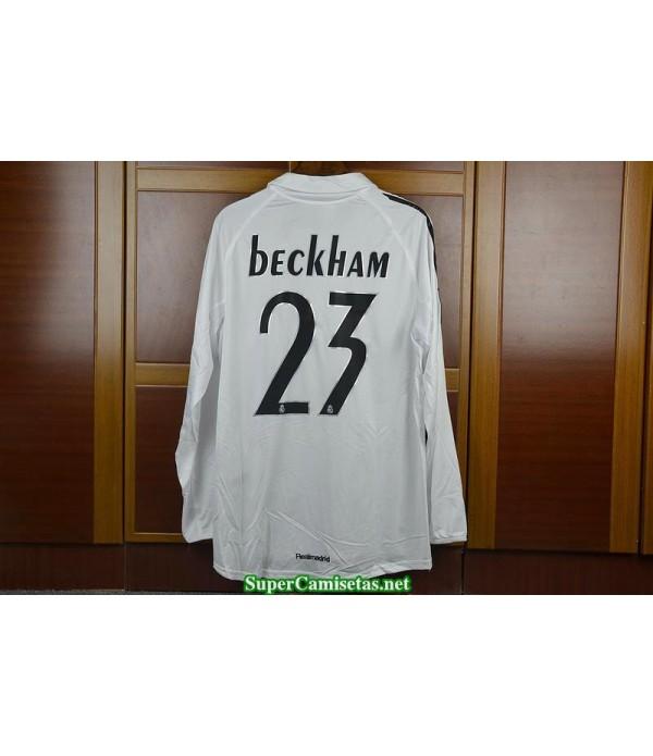 Camisetas Clasicas real madrid Hombre Manga Larga 23 Beckham 2005-06