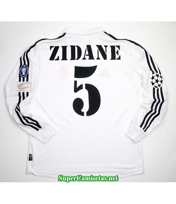 Camisetas Clasicas Real Madrid UCL final Manga Larga 5 Zidane 2002-03