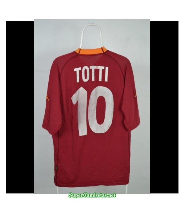 Camisetas Clasicas AS Roma Hombre 10 Totti 2000-01