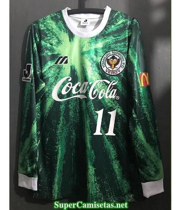 Camisetas Clasicas Verdy Kawasaki Hombre Manga Larga 11 Kazu 1993-95