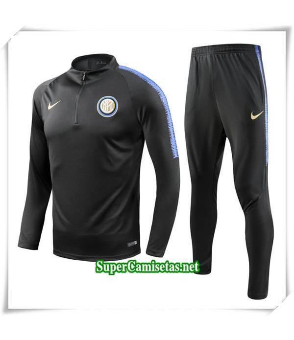 chandal Inter Milan Negro Bebé Niño 2018/19