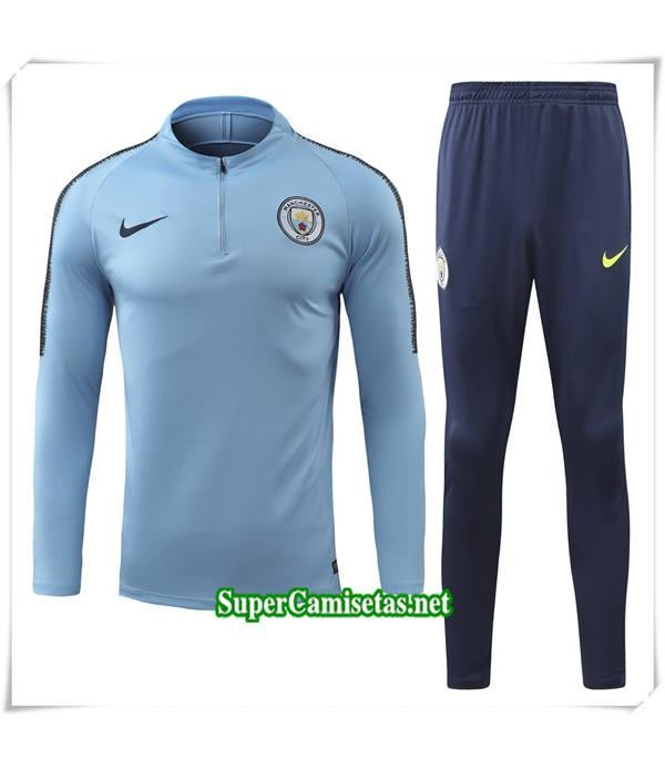 chandal Manchester City Azul Ciel Bebé Niño 2018/19