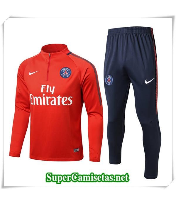 chandal Paris Saint Germain Bebé Niño Roja 2017/18