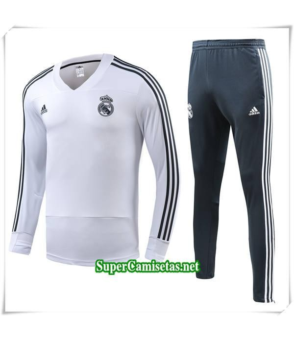 chandal Real Madrid Blanc Bebé Niño Col V 2018/19